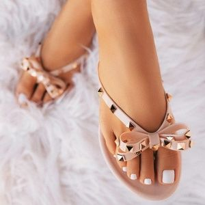 Bows Nude sandals🔥Last pairs🔥